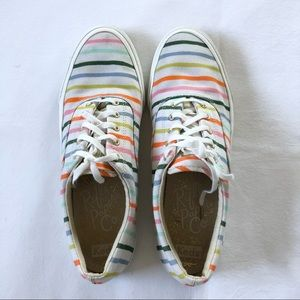 Keds Rifle Paper Co Striped Sneakers Size 8.5